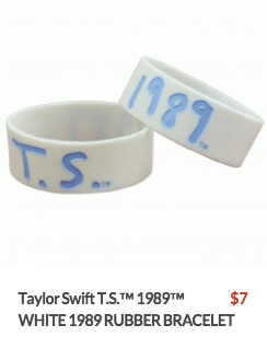 These bracelets, from Swift's US store, aren't appropriate for China