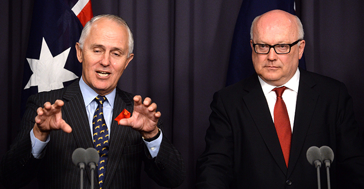 Attorney-General George Brandis says there is no guarantee of government money. Photo: AAP.