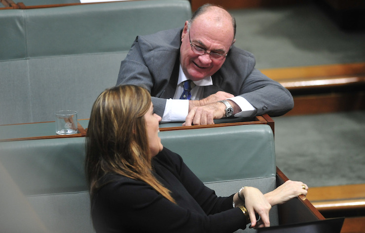 Warren Entsch, pictured here talking to Peta Credlin, wants action on marriage equality.