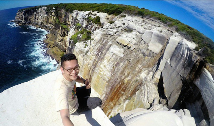 The popular and lofty heights of Wedding Cake Rock have been shut to selfie seekers like this one. Photo: Instagram