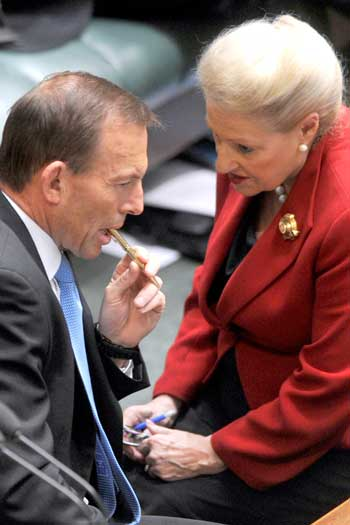 Mrs Bishop always had the ear of the PM. Photo: AAP