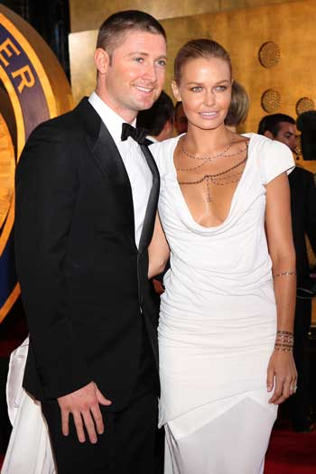 Clarke's relationship with Lara Bingle meant he went from the cover of Inside Cricket to the cover of Woman's Day. Photo: Getty