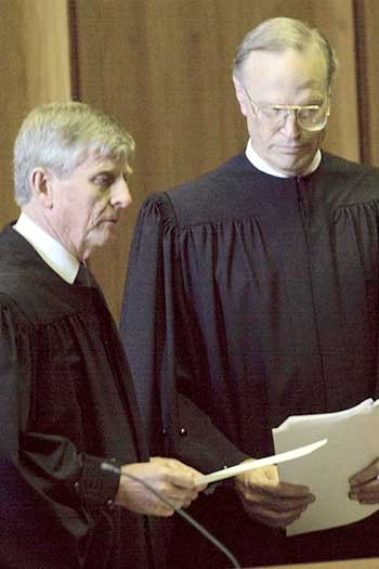Dyson Heydon at his appointment to the High Court in 2003. Photo: AAP