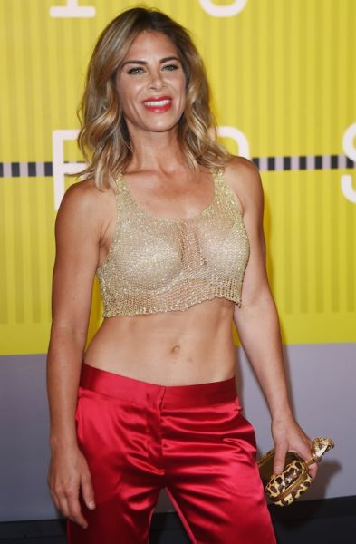'The Biggest Loser' trainer Jillian Michaels shows off the fruits of her labour.