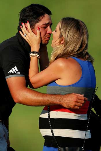 There were tears when Day finally elevated himself among the major winners. Photo: Getty