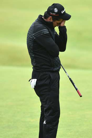 Day was agonisingly close to a play-off at the British Open. Photo: Getty