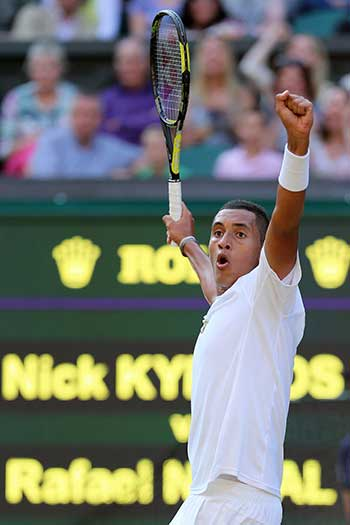 Just over a year ago Kyrgios was on top of the world after beating Rafael Nadal at Wimbledon.