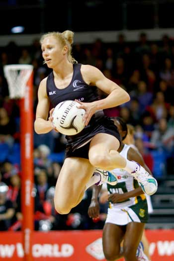 Silver Ferns jack-in-the-box Laura Langman. Photo: Getty