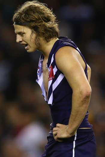 Nat Fyfe would love to recapture his early-season form for Freo. Photo: Getty