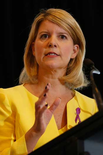 Natasha Stott Despoja is Australia's ambassador for women and girls, and the chair of Our Watch. Photo: AAP