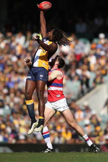Nic Naitanui made a triumphant return to Subiaco Oval after the death of his mother. Photo: Getty