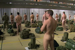 Soldiers must strip down naked to test their ability to cope in uncomfortable situations. Photo: You Tube