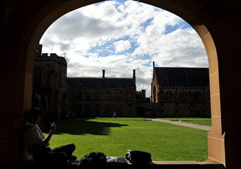 The union has questioned why Sydney Uni let the students in in the first place. Photo: AAP