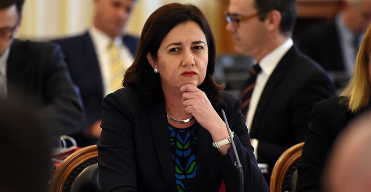 Queensland Premier Annastacia Palasczuk fronts a budget estimates committee hearing at Parliament House in Brisbane, Tuesday, Aug. 18, 2015. (AAP Image/Dan Peled) NO ARCHIVING