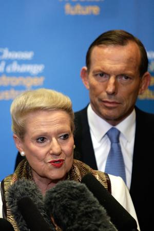 Bronwyn Bishop and Tony Abbott.