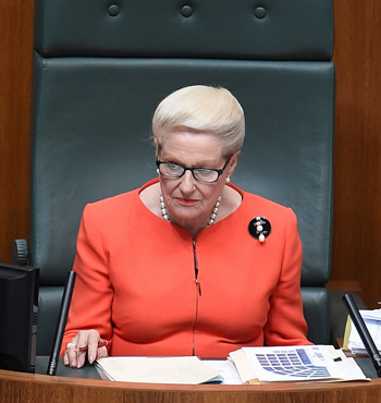 Bronwyn Bishop gave in to pressure and stood down from her role as Speaker.