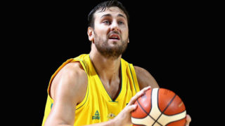 Aussie Andrew Bogut was influential in the Boomers win.Getty