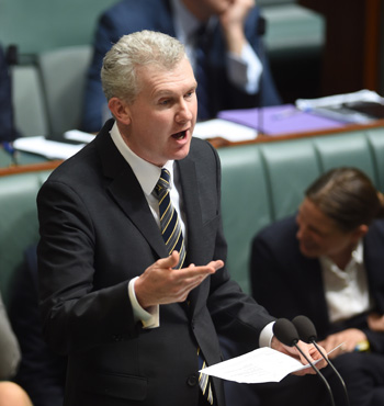 Manager of Opposition business Tony Burke said the commissioner had revealed deep bias.
