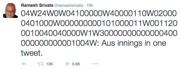 cricket tweet