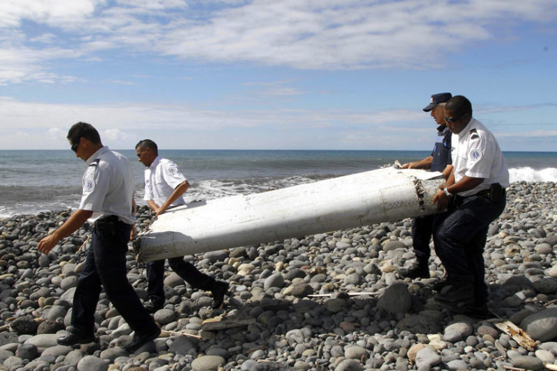 A confirmed flaperon from missing flight MH370 in July. Photo: AAP