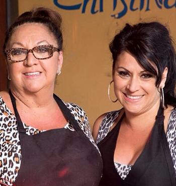 'The Hotplate' contestants Christina and Tania.
