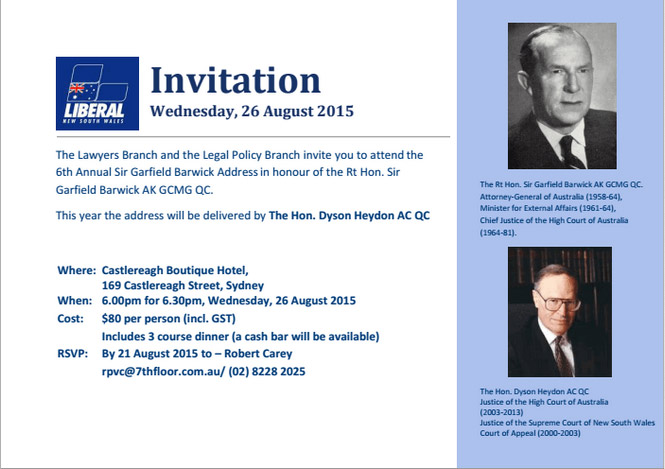 Liberal party invitation