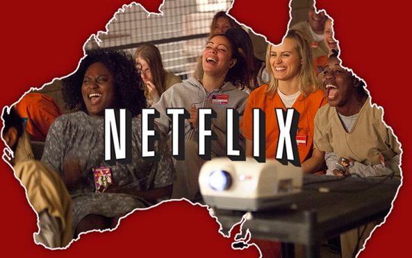 It's all because Netflix, with shows like Orange Is The New Black, is king in Australia.