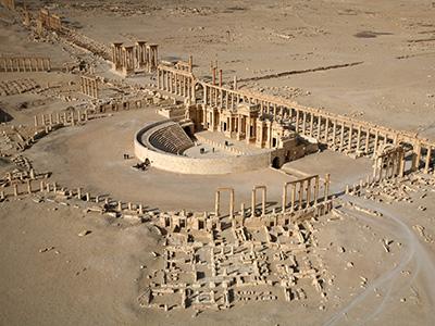 Palmyra Islamic State destroyed