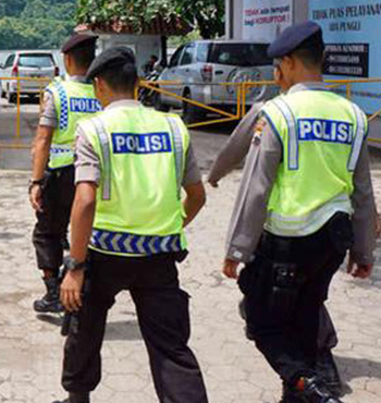 Indonesian police are questioning the man.