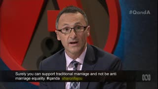 Richard Di Natale says Tony Abbot is stuck in a other century.