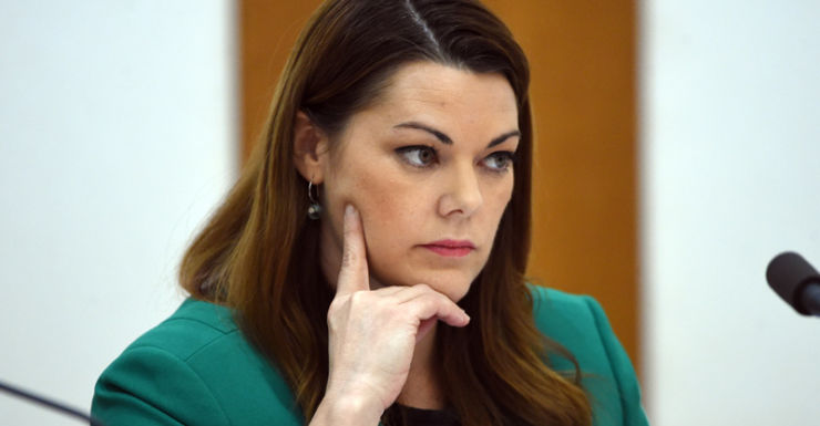 Security staff said they observed Sarah Hanson-Young's every move.