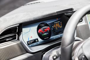 The P85D's futuristic interior. Photo: Shutterstock.