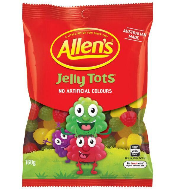The new-look Jelly Tots.