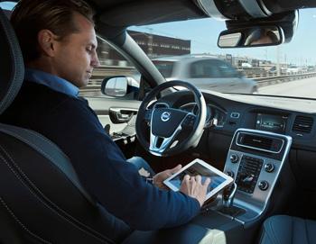 Volvo self-driving car