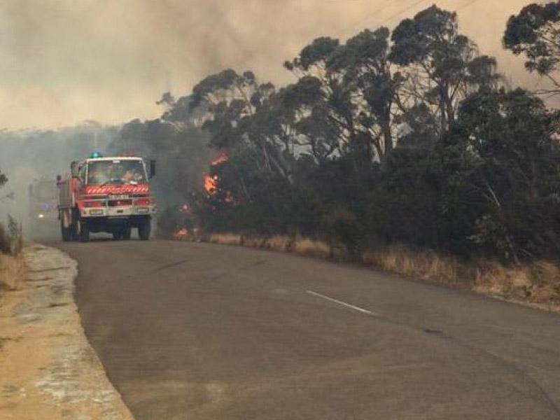 Bushfire at Wentworth Falls.