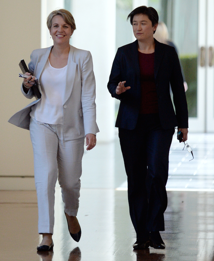Penny Wong and Tanya Plibersek are both prominent figures in the Shadow Ministry. 2 of 8 females on it. Photo: Getty