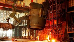 China's steel output has stopped growing but is winding down slowly.