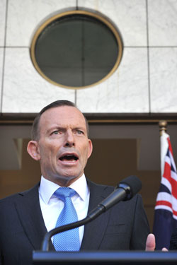 PM Tony Abbott faces a battle to keep his leadership. Photo: AAP