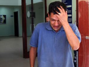 Abdullah Kurdi broke down in tears as he waited to identify his family members. Photo: AAP