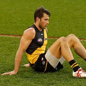 A gutted Alex Rance after another finals loss. Photo: Getty