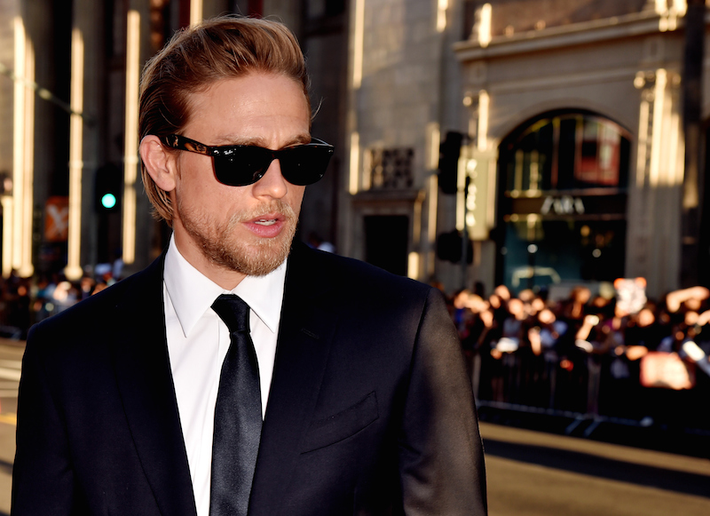 Charlie Hunnam on the red carpet