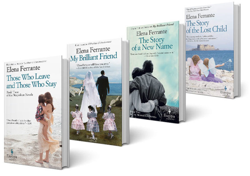 Author Elena Ferrante's book covers are causing a twitter storm.