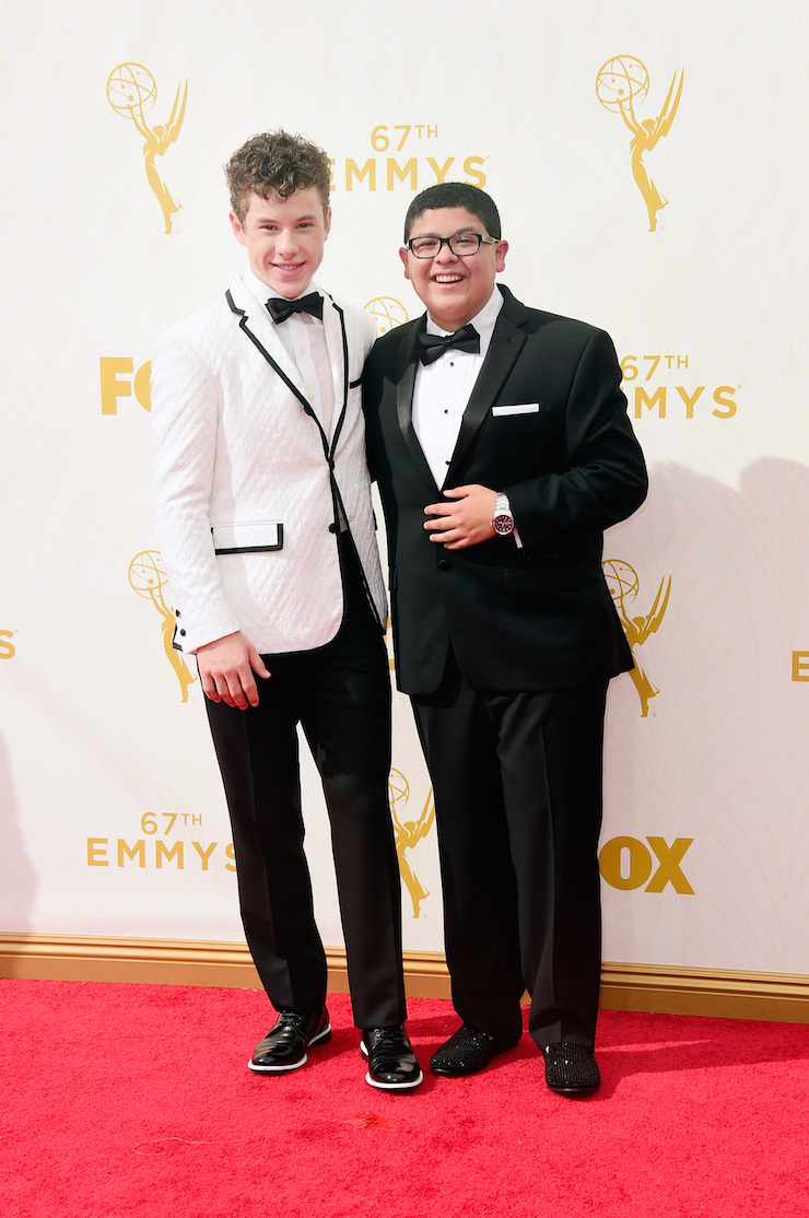 'Modern Family' stars Nolan Gould (L) and Rico Rodriguez.