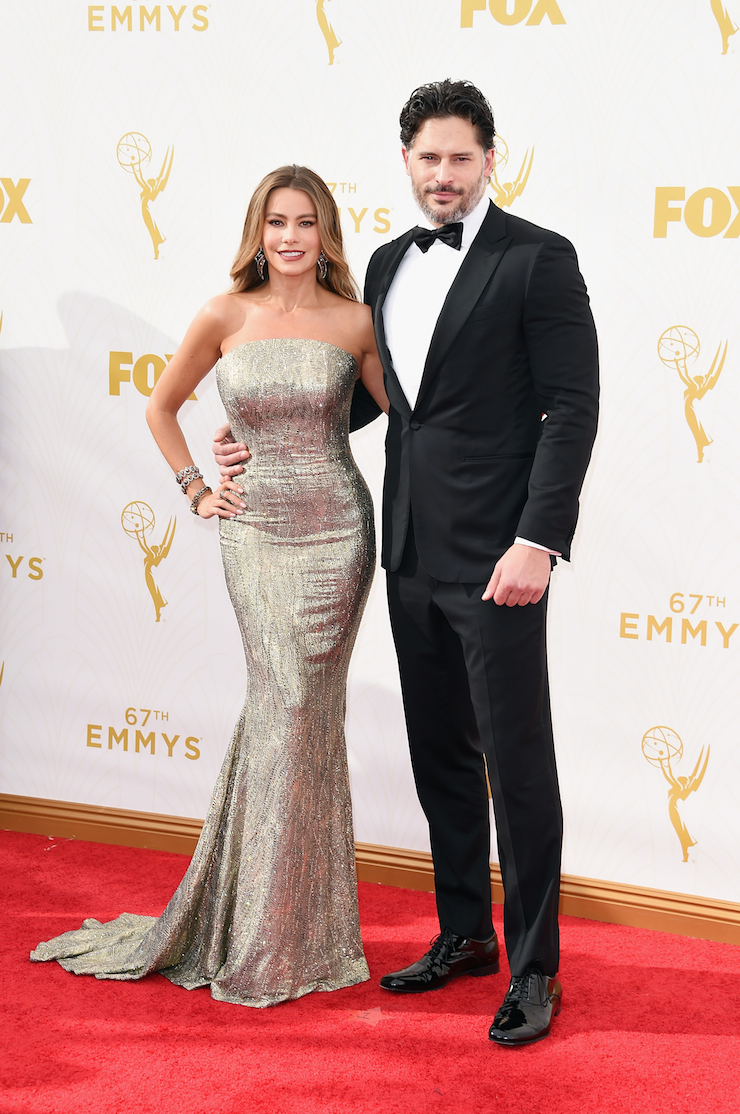 Engaged actors Sofia Vergara (L) and Joe Manganiello.