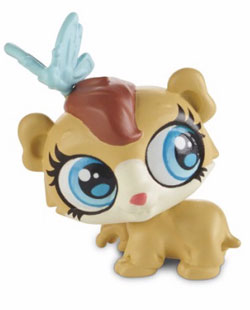 The 'Harris Faulkner' guinea pig figuring is part of the Littlest Pet Shop collection. Photo: Hasbro