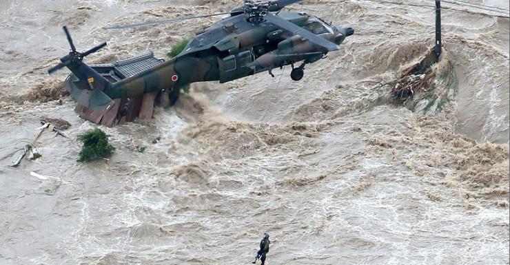 japan flood rescue getty
