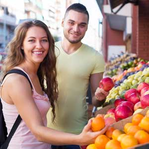 Shopping in a market rather than a chain store can result in big savings. Photo: Shutterstock