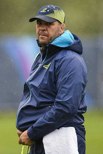 Australia has never failed to make the quarter-finals of a Rugby World Cup. Can Michael Cheika keep that run going? Photo: Getty
