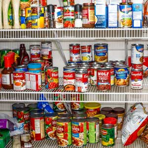 Keeping a full pantry is essential. Photo: Shutterstock
