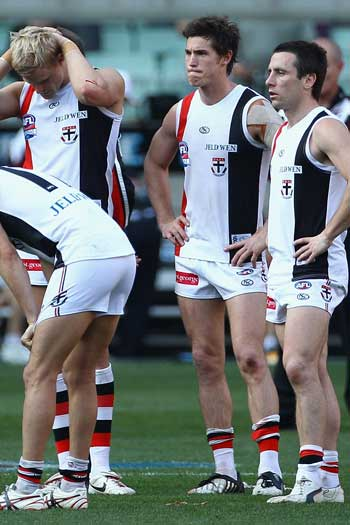 St Kilda came within a whisker of winning premierships in both 2009 and 2010. Photo: Getty